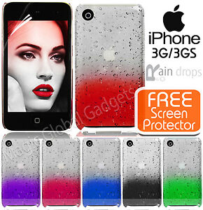 NEW 3D AQUA WATER RAINDROP CRYSTAL DESIGN HARD BACK CASE COVER FOR MOBILE PHONES