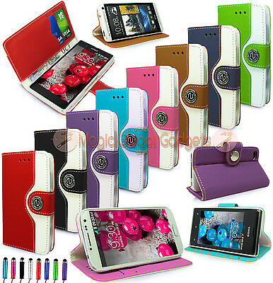 RETRO LUXURY LEATHER WALLET FLIP BOOK CARD SLOTS CASE COVER FOR MOBILE PHONES