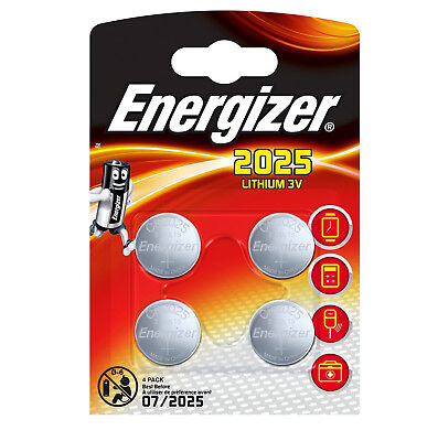 GENUINE ENERGIZER 4X CR2025 3V COIN CELL BATTERY LONGEST EXPIRY DL 2025