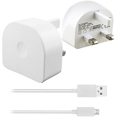 GENUINE MOTOROLA CHARGER & USB DATA CABLE FOR MOTO G,G2,G3,G4 MOTO X, MOTO E