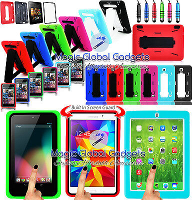 ROBOT SHOCK PROOF BUILDER HEAVY DUTY TOUGH CASE COVER STAND FOR VARIOUS TABLETS