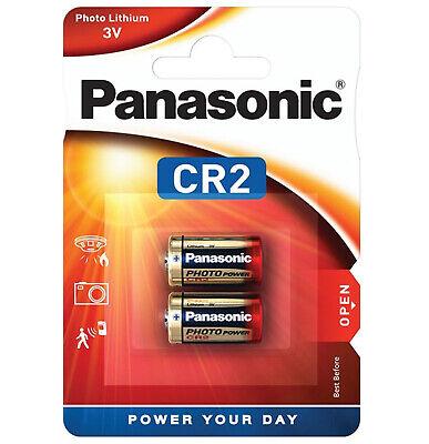 GENUINE 2X PANASONIC CR2 3V DIGITAL PHOTO CAMERA BATTERY ELCR2 2027 EXPIRY
