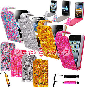 SPARKLY-DIAMOND-BLING-RHINESTONE-LUXURY-LEATHER-FLIP-COVER-CASE-FOR-MOBILE-PHONE