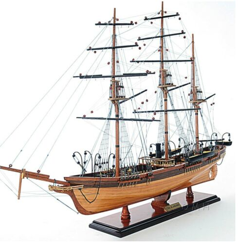 "31.5"" Civil war Confedearte States CSS Alabama Tall Ship Boat Assembled Wood"