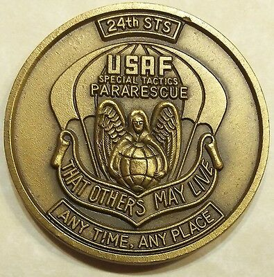 24th Special Tactics Sq Combat Control Team Pararescue Air Force Challenge Coin