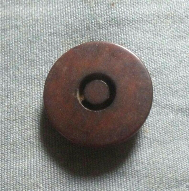 Vintage Unique Four Hole Vegetable Ivory Button.