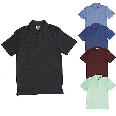 Haggar Men's Cool 18 Quick Dry UPF Sun Protection Short Sleeve Golf Polo Shirts ()