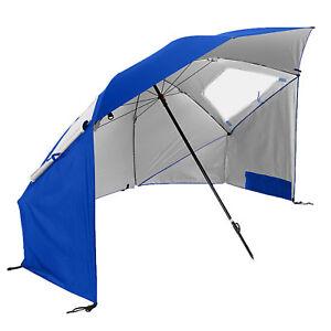 sport brella super brella 8 foot portable sun shelter weather umbrella blue