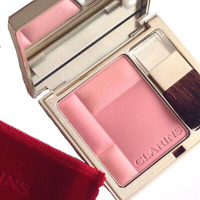 AUTHENTIC CLARINS 08 Sweet Rose Blush Prodige Illuminating + Brush Discontinued