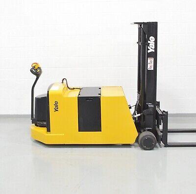 Nice Yale Mcw040 24v Electric 4000 Lb Walk Behind Forklift Walkie Stacker