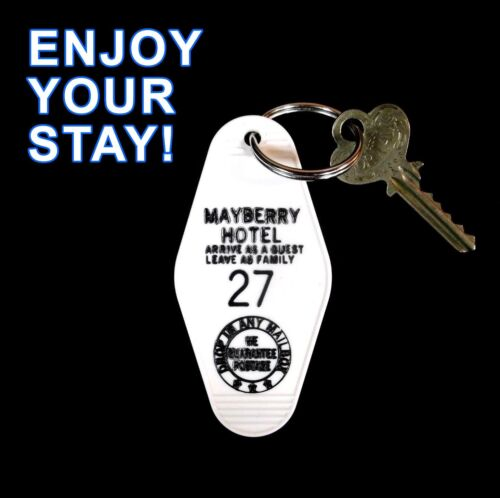 Rare MAYBERRY HOTEL The Andy Griffith Show PROP KEY TAG Barney Fife Darlings #27