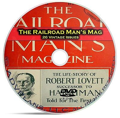 The Railroad Mans Magazine, 26 Classic Issues, Railroad American History DVD C22