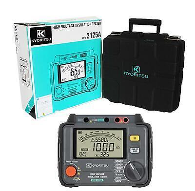 Kewtech Kyoritsu 5kv High Voltage Insulation Tester 250-5000v Kew3125a