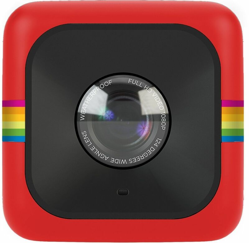 Polaroid Cube HD Digital Video Action Camera Camcorder (Red)