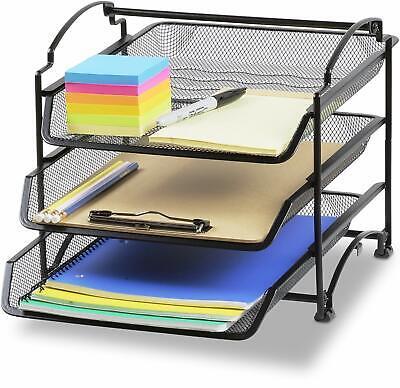 Desk Organizer Set Mesh Work Shelf And Accessories Dorm Supplies Tray Document