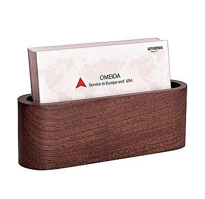 Walnut Wood Business Card Holder For Desk Business Card Case Office Business