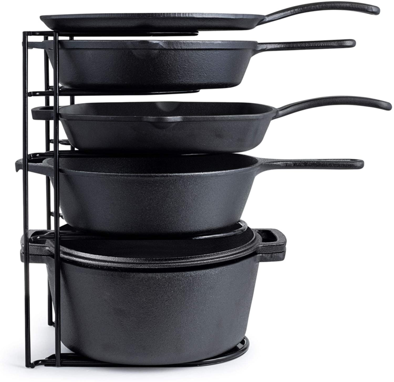 Heavy Duty Pan Organizer, Extra Large 5 Tier Rack - Holds Ca