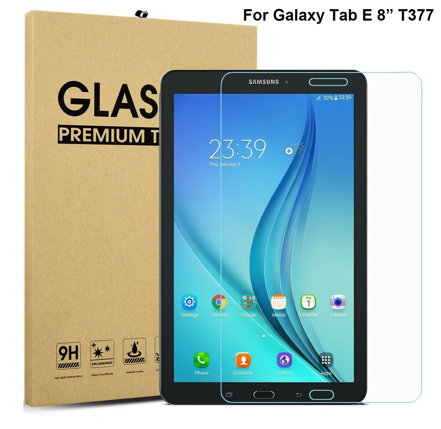 Tempered Glass LCD Screen Protector For Samsung Galaxy Tab E 8.0 /8 inch T377 Computers/Tablets & Networking