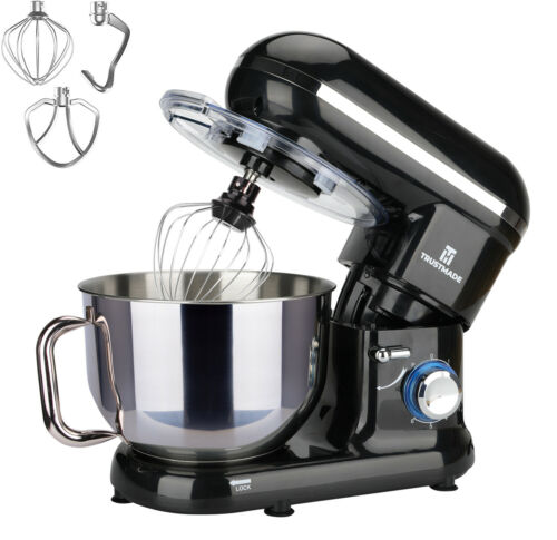 660W 5.8QT 6 Speed Electric Stand Mixer Stainless Steel Countertop Food Mixer