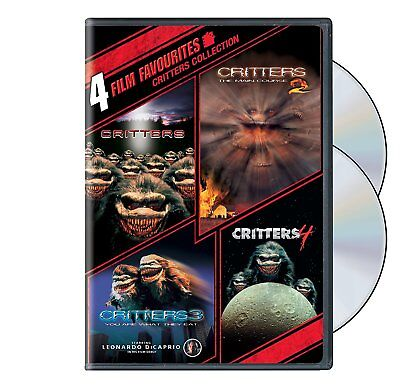 4 Film Favorites  Critters 1 2 3 4 Collection  Dvd Set  Horror Leo Dicaprio  New