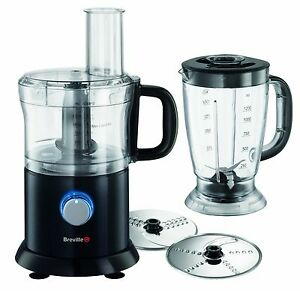 Breville Pro Kitchen Black Food Processor Chopper Mixer Ice Crushing Jug Blender