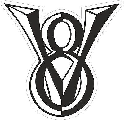 V8 Aufkleber Sticker kaufen V8 Logo Chevy Dodge Ford Pontiac Chrysler Mopar AMC