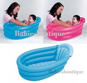 bestway baby infant travel inflatable bath washing tub blue pink ebay. Black Bedroom Furniture Sets. Home Design Ideas