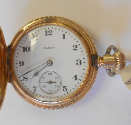 Elgin Womens 14K Yellow Gold Hunting Case Pocket Watch Serial 19399841 Model 2