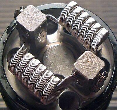 Framed Staple Alien, 2 Coils, Handmade by ReBosCC, 100% Ni80, 3mm, 0,11 Ohm dual