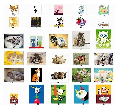 Personalized Return Address Labels Cute Cats Buy 3 Get 1 Free C3