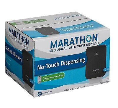 Marathon Mechanical Hand Towel Dispenser Black Soft Absorbent Durable Plastic Plastic Towel Dispenser