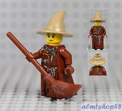 Female Harry Potter (LEGO - Female Minifigure Witch w/ Brown Dress & Dark Tan Hat Castle Harry)