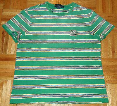 Ralph Lauren Polo RL Madison Pocket Shirt S/S Tribal Aztec Striped Hip Hop Sz L