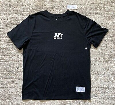 """HUF x Starter Black Label """"By Any Means Necessary"""" T Tee Shirt Black Size Large"""