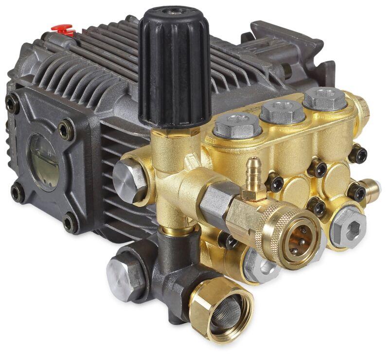 """Mi-T-M 3-0414 Pressure Washer Pump, Triplex, 2.5GPM@3000 PSI, 3400 RPM, 3/4"""" Hor"""