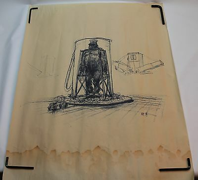 King Kong 1970s Drawing by the Artist Mentor Huebner * MOVIE DESIGN CONCEPT ART