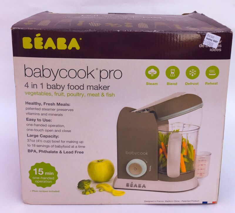 BEABA Babycook 4 in 1 Steam Cooker & Blender, 4.5 Cups LATTE MINT *NEW*