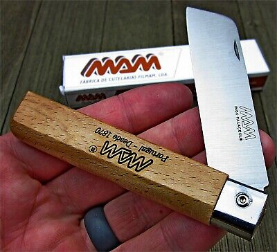 MAM Beechwood Handles German Stainless Sheepsfoot Blade Folder Knife Portugal