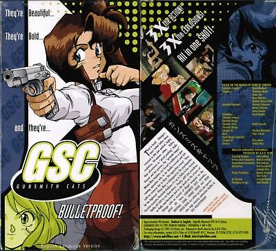 Gunsmith Cats GSC Bulletproof Anime VHS Video Tape New English Dubbed