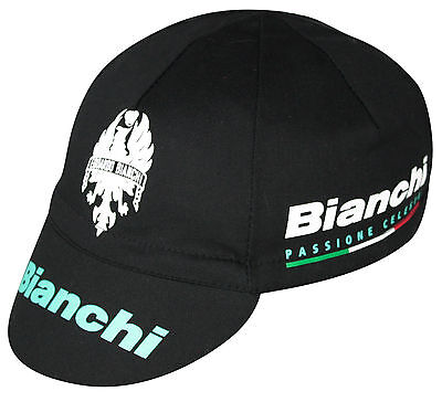 BIANCHI OLTRE BLACK TEAM CYCLING CAP NEW BIKE RIDE HAT  **