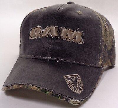 (Hat Cap Dodge RAM Truck Corner Bill Camo Black Charcoal OC)