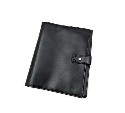 30 Mm 6 Ring A5 Large Size Vegan Faux Leather Planner Agenda Black Asian Vintage