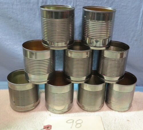 9 Empty Tin Cans art & crafts Candle Supplies target shooting