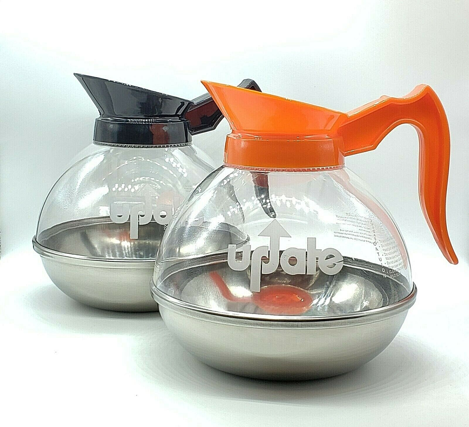 Update International 64 oz. Impact Resistant Coffee Decanter, Carafe Reg & Decaf Bar & Beverage Equipment