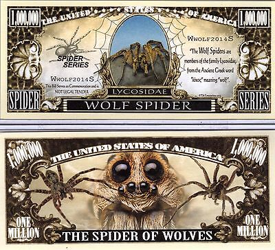 The Wolf Spider   Spider Series Million Dollar Novelty Money