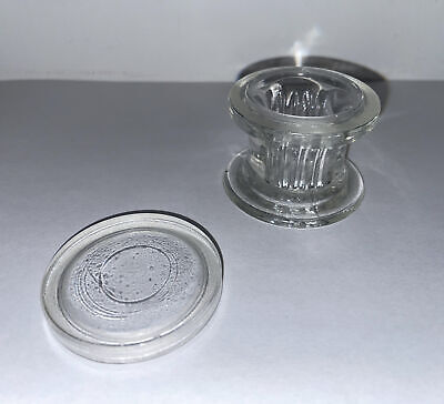 Aht Co. Vintage Glass 4 Slide Staining Jar Lab Apothecary Chemist Made In Usa -b