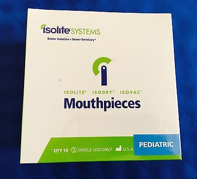 Isolation Dental Mouthpieces Pediatric Sizes For Isolite Isodry Systems 10pk