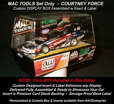 Custom Display Case: CP7002 MAC TOOLS Team Force COURTNEY FORCE Traxxas Set Car