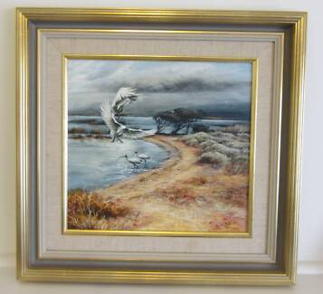 """William (Bill) Beavan """"Coorong Backwater"""" oil painting Prospect Prospect Area Preview"""