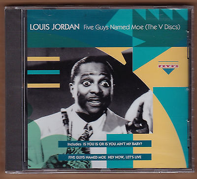 Louis Jordan Cd  Five Guys Named Moe The V Discs  1993 Charly Import New 14 Song